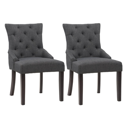 "Antonio Tufted Accent Chair in Fabric, set of 2 - <body><p style=""color:#ED1C24"";>*CLEARANCE - Final Sale*</p></body>"