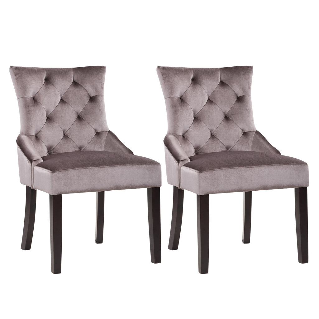 Antonio Accent Chair in Velvet, set of 2 *CLEARANCE*