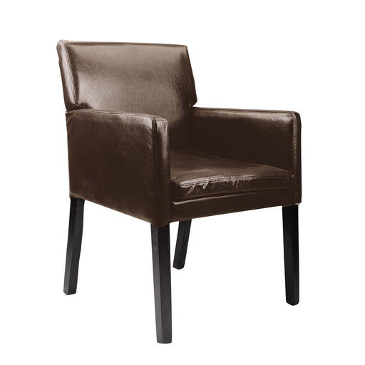 Accent Chair in Dark Brown Leather