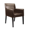 Accent Chair in Dark Brown Leather - *CLEARANCE*