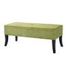 "Antonio Velvet Like Fabric Upholstered Bench - <body><p style=""color:#ED1C24"";>*CLEARANCE - Final Sale*</p></body>"