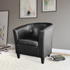Tub Chair in Bonded Leather