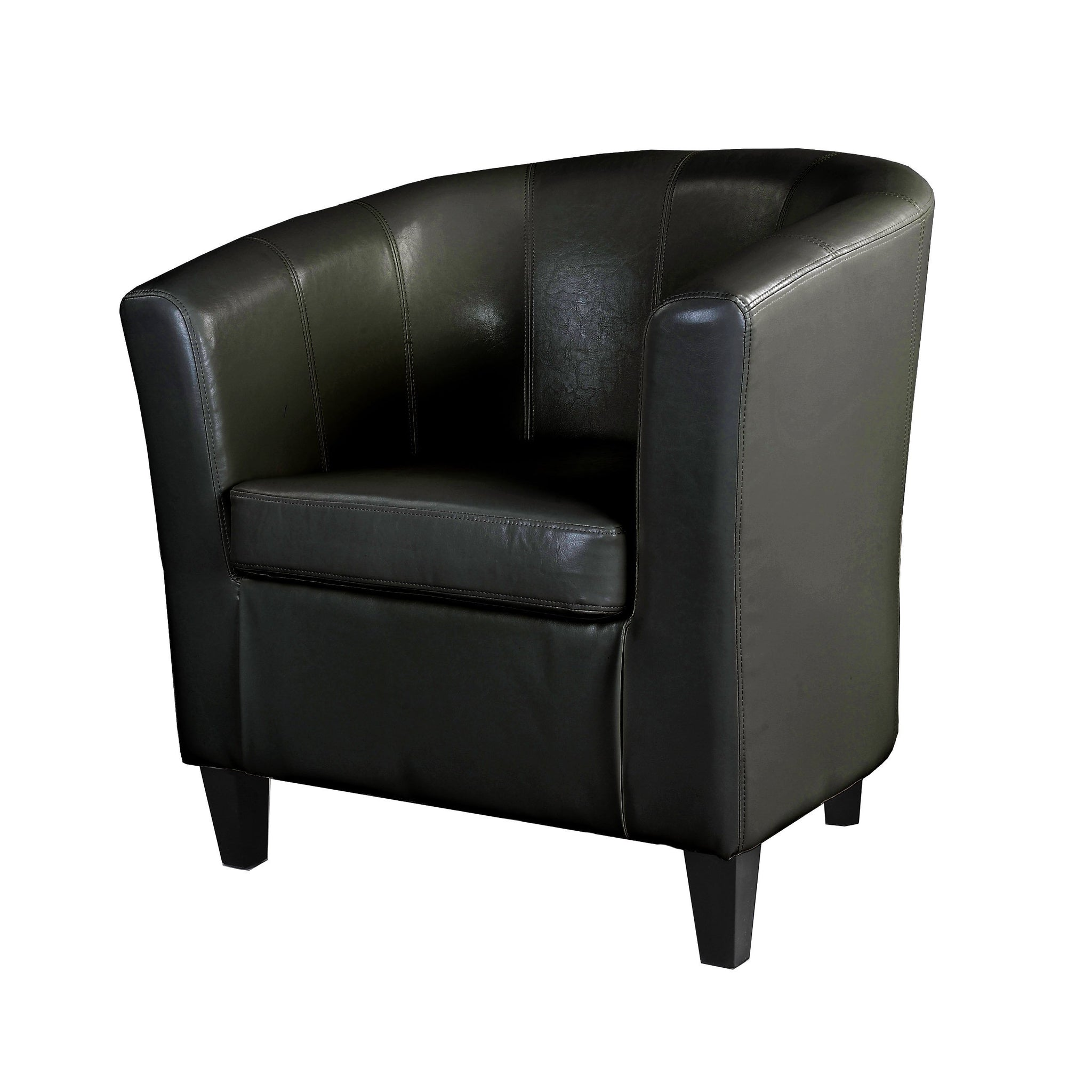 Tub Chair In Bonded Leather Corliving Furniture Us