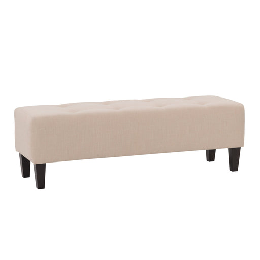 Rosewell Fabric Button-Tufted Accent Bench