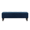 Fabric Button-Tufted Accent Bench