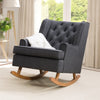 Boston Tufted Fabric Rocking Chair
