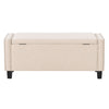 Boston Storage Fabric Ottoman