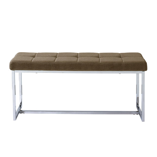 Modern Fabric Bench with Chrome Base - *CLEARANCE*