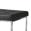 Modern Leatherette Wide Bench with Chrome Base - *CLEARANCE*