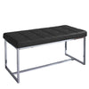 "Huntington Modern Leatherette Wide Bench with Chrome Base - <body><p style=""color:#ED1C24"";>*CLEARANCE - Final Sale*</p></body>"