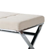 Huntington Modern Fabric Bench with X Shape Chrome Base - *CLEARANCE*