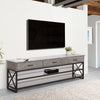 Houston Oak Wood Veneer TV Bench, For TVs up to 90""
