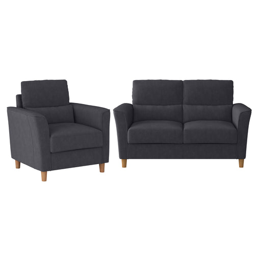 Georgia Loveseat Sofa and Armchair Set - 2pcs