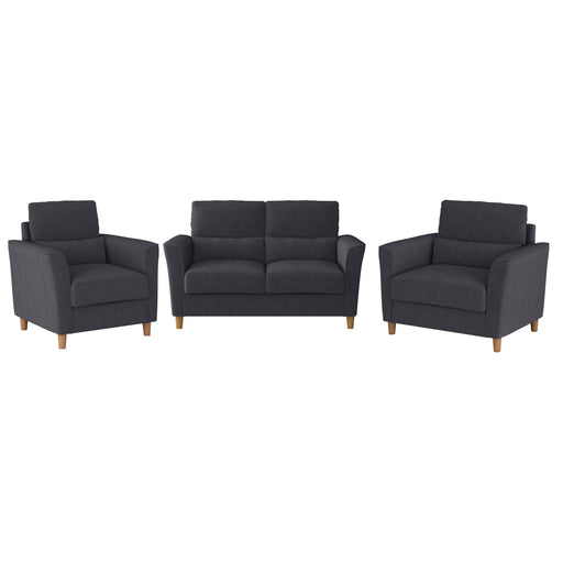 Georgia Loveseat Sofa and Armchair Set - 3pcs