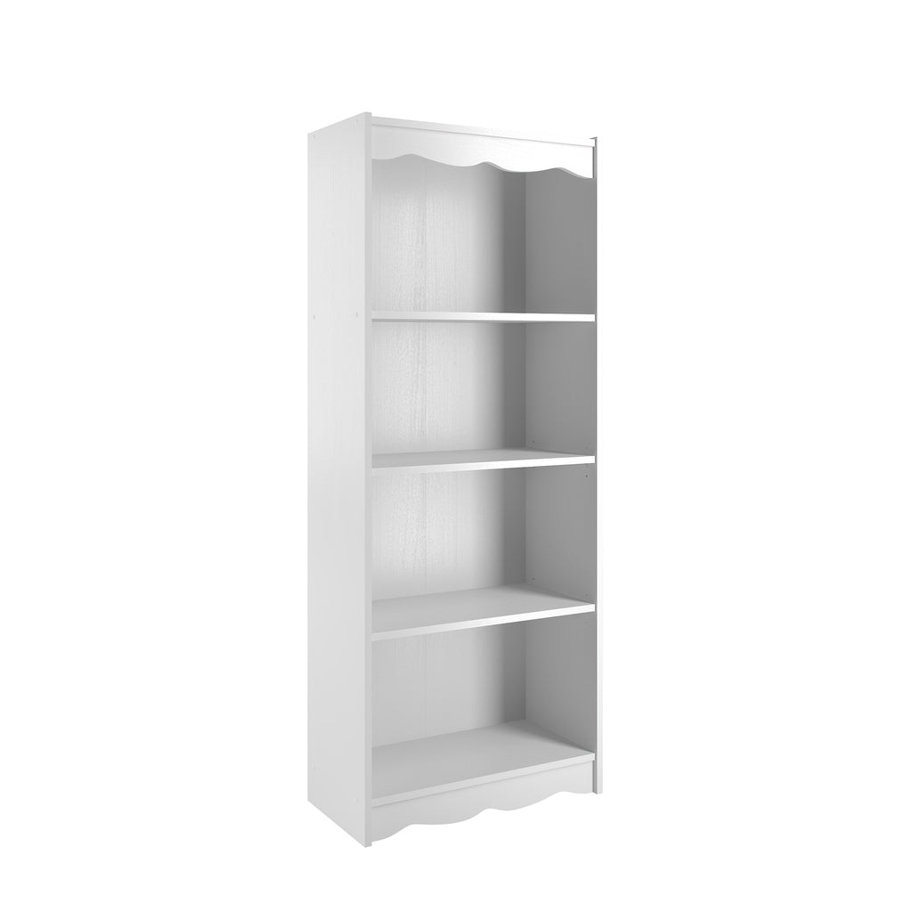 "Hawthorne 60"" Tall Bookcase in White"