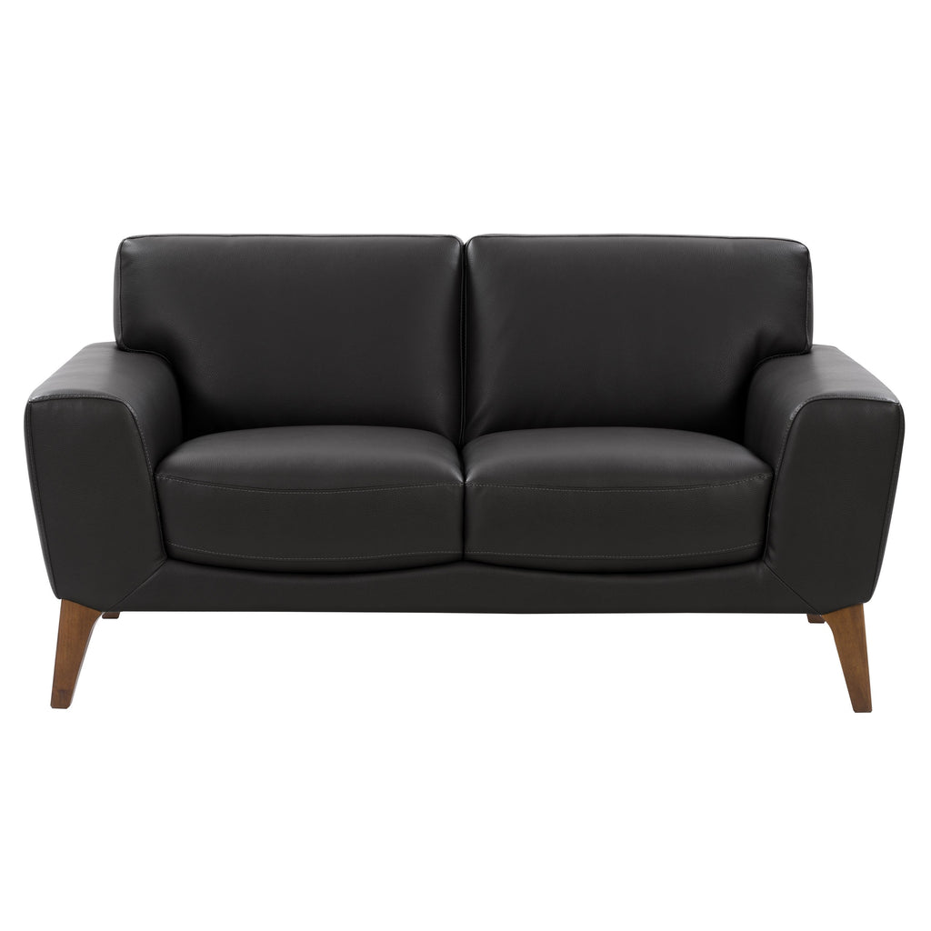 London Modern, High-Grade, Durable Faux Leather Low-Profile Loveseat *Please allow extra time for shipping*