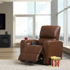 Tuscon Home Theater Single Power Recliner with Stainless Steel Cup Holders