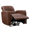 Home Theater Single Power Recliner with Stainless Steel Cup Holders