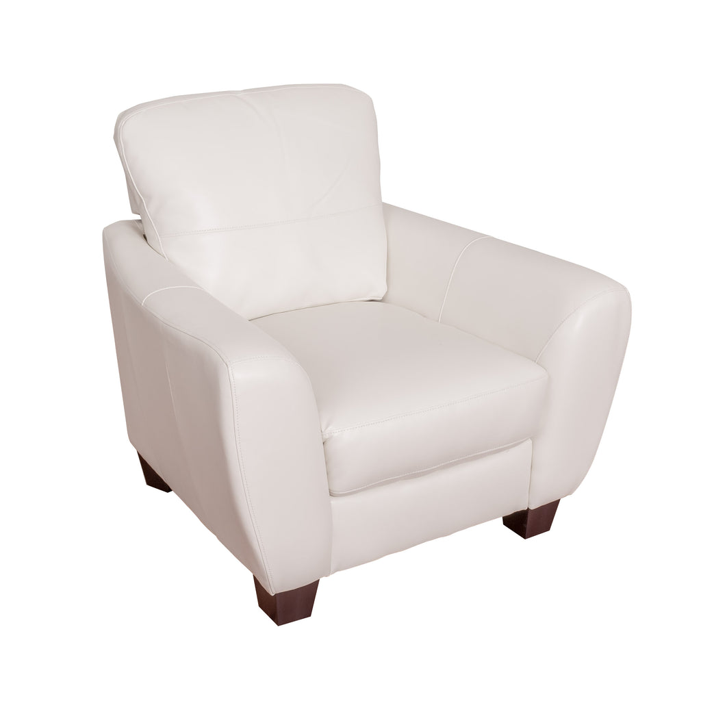 Jazz White Bonded Leather Chair - *CLEARANCE*