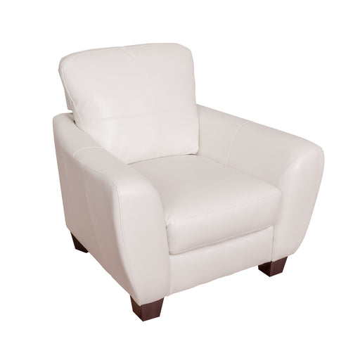 White Bonded Leather Chair - *CLEARANCE*