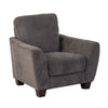 Grey Chenille Fabric Armchair - *CLEARANCE*