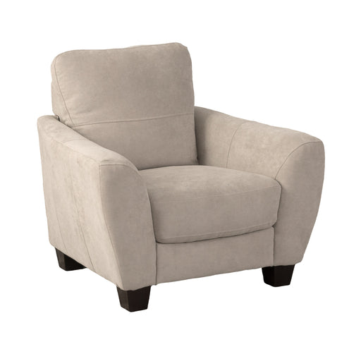 Beige Chenille Fabric Armchair