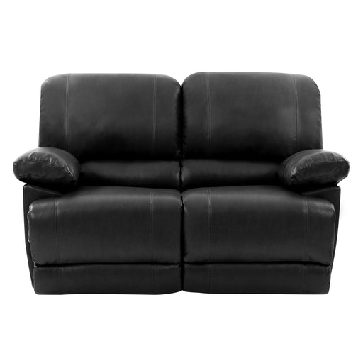 Plush Reclining Bonded Leather Loveseat