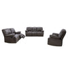 Lea Plush Reclining Bonded Leather Sofa Set 3pc