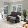 Lea Plush Reclining Chenille Fabric Loveseat