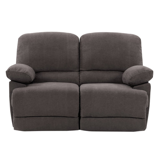 Plush Reclining Chenille Fabric Loveseat