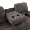 2pc Plush Power Reclining Chenille Fabric Sofa Set with USB Ports