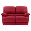 Lea Plush Reclining Bonded Leather Loveseat
