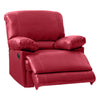 Lea Plush Reclining Bonded Leather Recliner