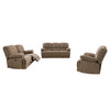 Lea Plush Power Reclining Chenille Fabric Sofa Set with USB Ports 3pc