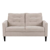 3 Piece Sewn Panel Tufted Sofa Set with Wooden Legs - *CLEARANCE - Final Sale*