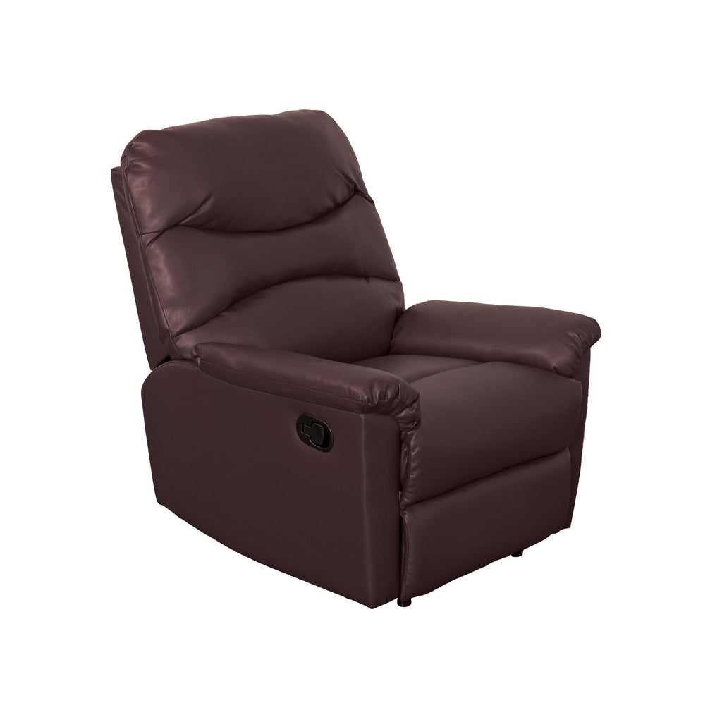 Luke Chocolate Brown Bonded Leather Recliner - *CLEARANCE*