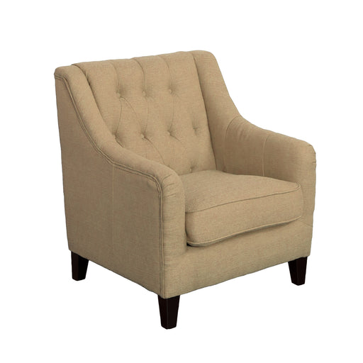 Diamond Tufted Accent Chair in Woven Fabric - *CLEARANCE*