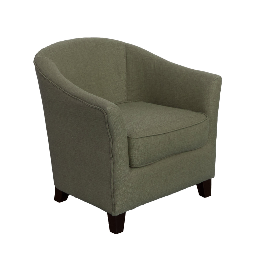 Contemporary Tub Chair in Linen Fabric