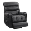 Power Lift Assist Recliner, Black Leather Gel