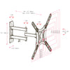"Full-Motion X-frame Wall Mount for 23"" - 55"" TVs"