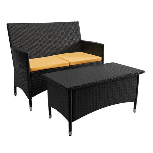 Cascade Patio Sofa and Coffee Table - *CLEARANCE - Final Sale*