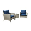 Parkview Wide Rattan Wicker Chair Patio Set 3pc