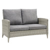 Parkview Wide Rattan Wicker Loveseat and Chair Patio Set 3pc