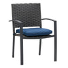 Parkview Wide Rattan Wicker Patio Dining Chairs, 4pc