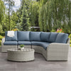 Brisbane Weather Resistant Curved Sectional with Oval Coffee Table 5pc