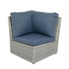 Weather Resistant Resin Wicker Corner Patio Chair