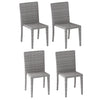Brisbane Outdoor Square Dining Set with Dining Chairs 5pc