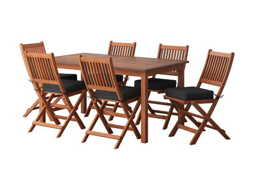 Wood Patio Dining Set