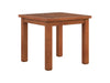 Miramar Cinnamon Brown Hardwood Outdoor Side Table