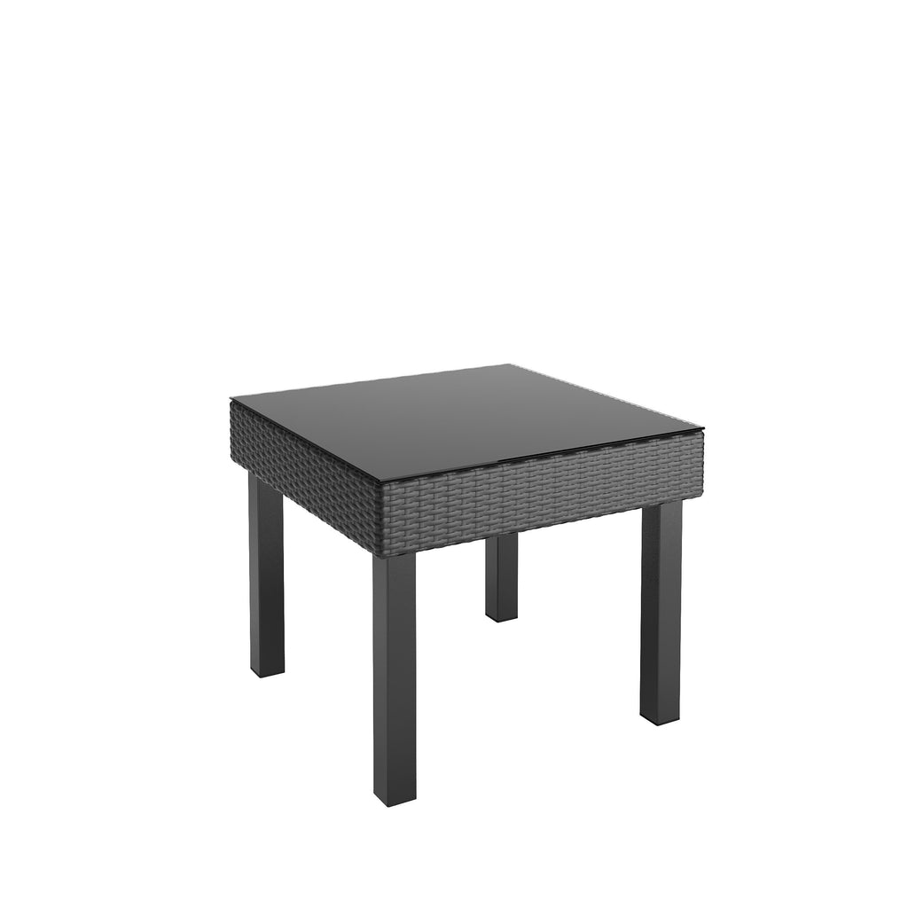 Park Terrace Patio Side Table in Textured Black Weave - *CLEARANCE*